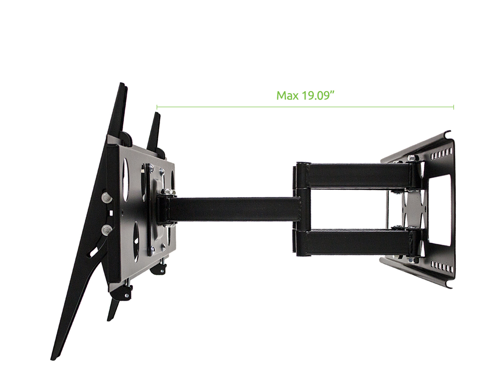dual arm full motion wall mount bracket for lg electronics 55lb6300 55 inch tv ebay. Black Bedroom Furniture Sets. Home Design Ideas